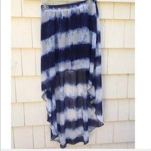 Forever 21 Navy White High Low Skirt